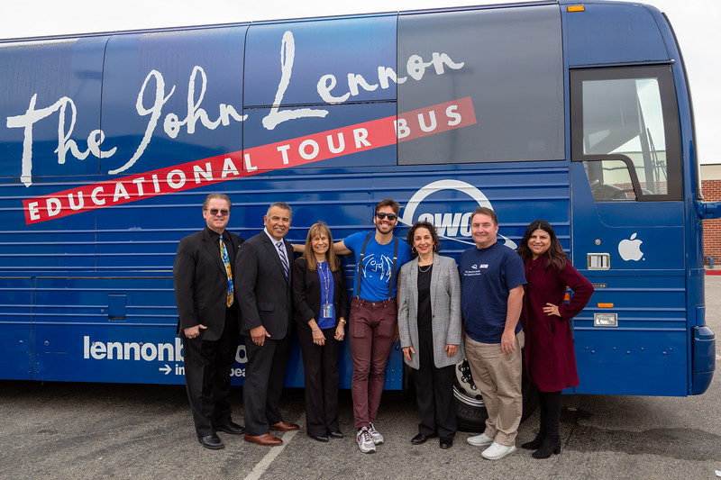 2019_02_01, Bus, CA, Exterior, Iris Levine, Josh Greene, Laura Solis, Michael Millar, OWC, Pomona, Pomona High School, Richard Wright, Roberta Perlman, Richard Martinez, Apple