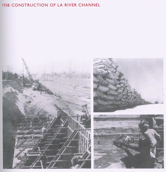 1938, LA River Channel Construction