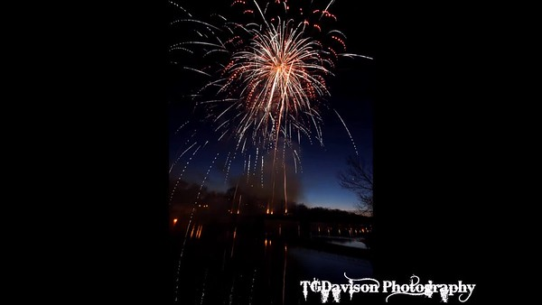 St. Patrick's Day Fireworks East Dundee, IL 2018