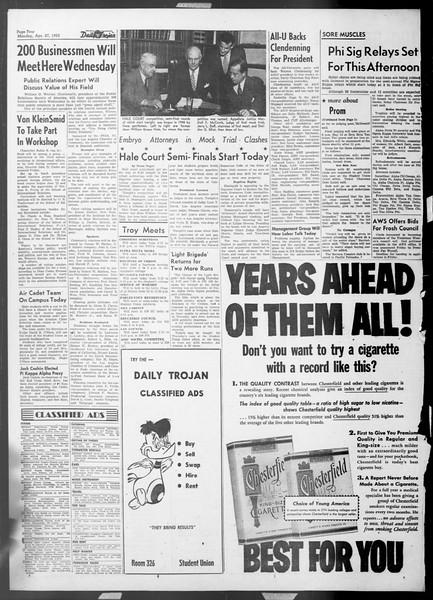 Daily Trojan, Vol. 44, No. 119, April 27, 1953