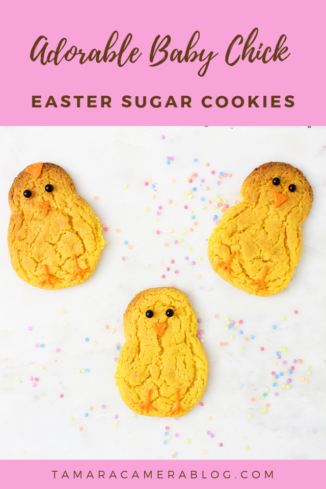 These Adorable Baby Chick Easter Sugar Cookies are cute for Easter treats, for when you hide eggs, for Easter parties, or for any spring occasion this month