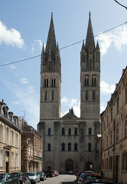 Caen, Abbaye-aux-Hommes West Facade and Towers