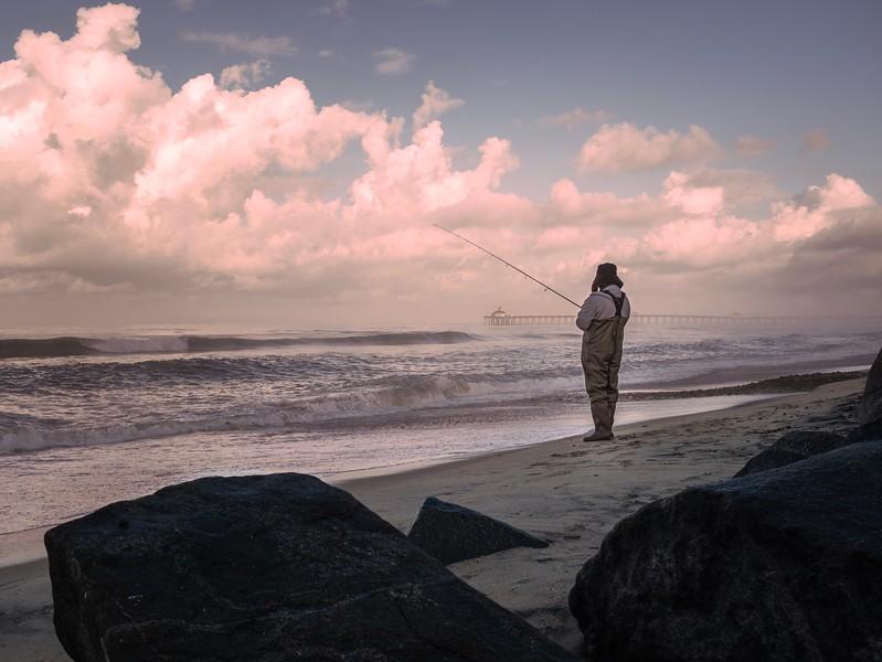SoCal Winter Morning Surf Fishing
