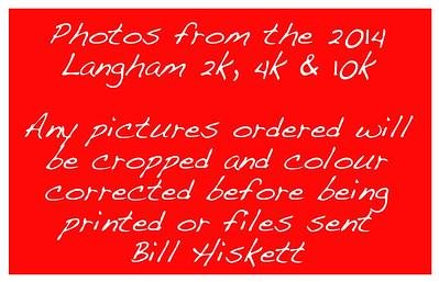 Langham 10, 2k and 4k run, Sept 2014