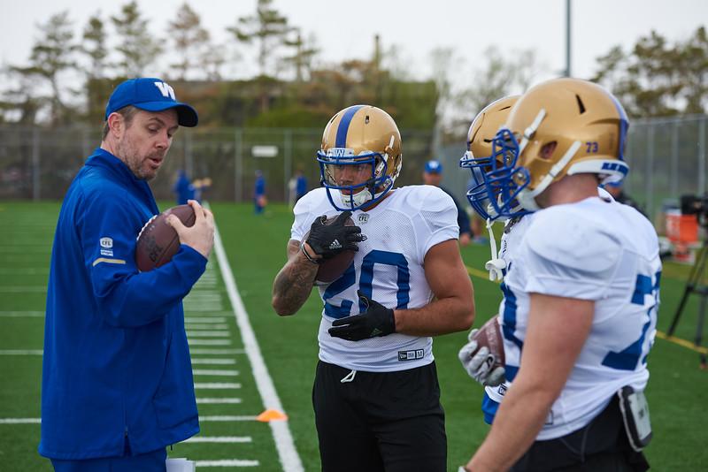 #20 Brady Oliveira during Winnipeg Blue Bombers rookie camp Wednesday May 15, 2019.