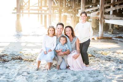 Pacific Beach Fall Family Photos at sunset - Crystal Pier - The Burgamy Family October 2018