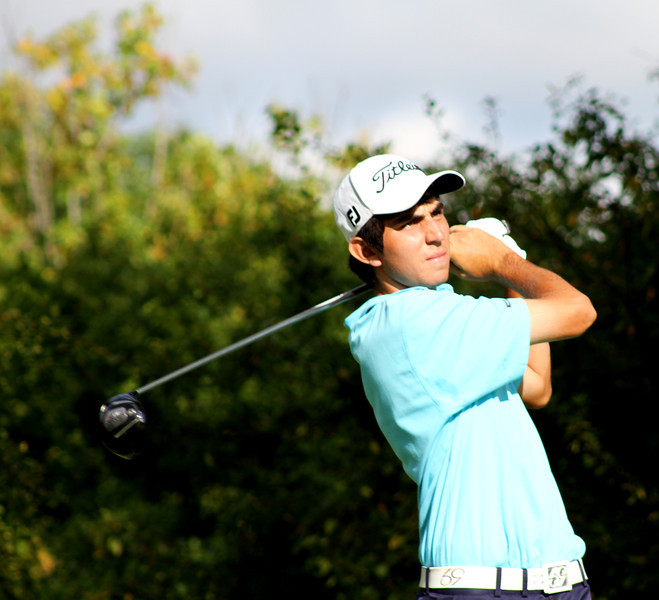Anthony Paolucci, 19, of Rancho Santa Fe, Calif., tees off in his third round Thursday.