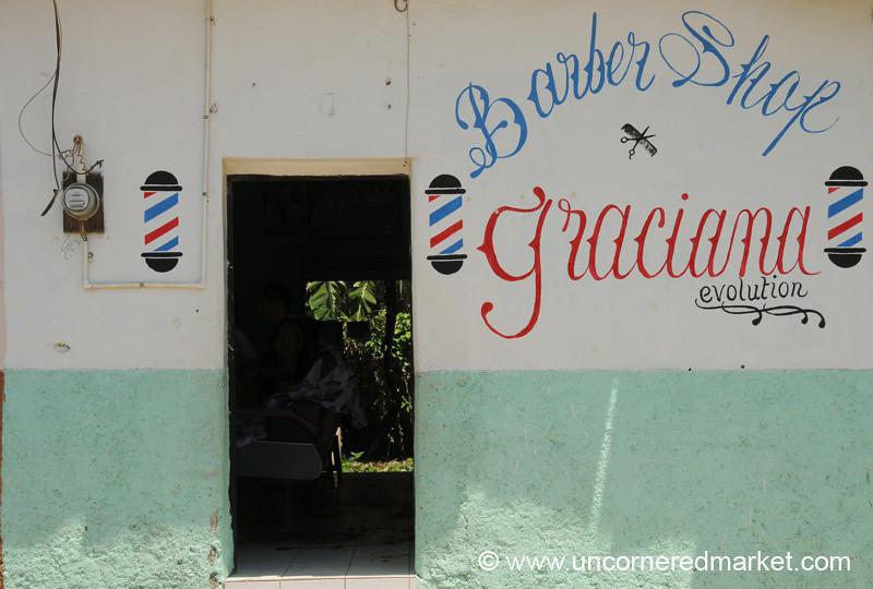 Old Time Barber Shop - Gracias, Honduras