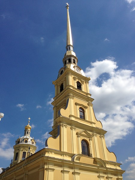 csw4steeple of Sts Peter & Paul Cathedral, Peter & Paul Fortress, St. Petersburg, Russia