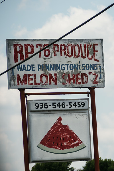 melon shed sign