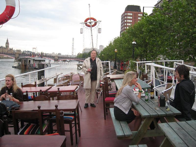 A beer at Tamesis Dock, London