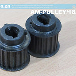 SKU: AM-PULLEY/18/N5, A Pair of Two 18 Teeth Pulley Gear for 5M Timing Belt, Suitable for Half Inch Shaft