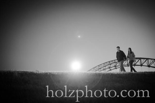 Chanda & Brent B/W Engagement Photos