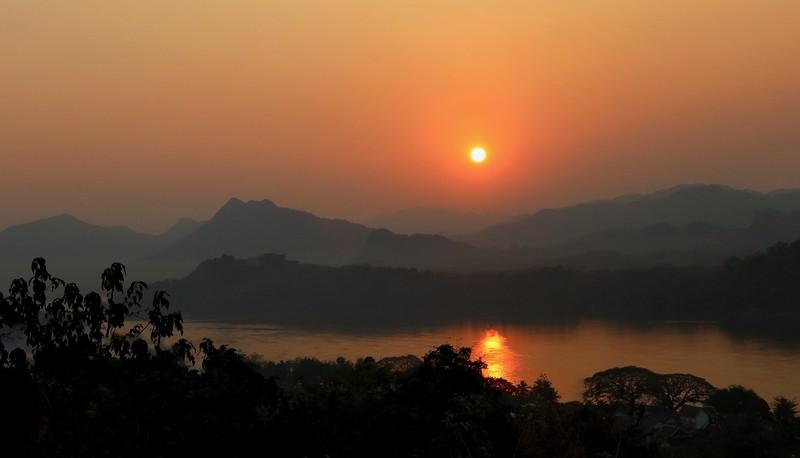 Sunset from atop Mt. Phousi - Luang Prabang, Laos
