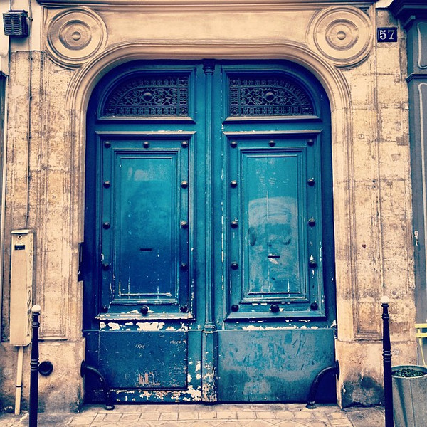 Favorite doorway candidate #9, blue in Belleville #Paris #lovingthemoment