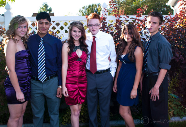 Alden and friends for homecomming 2011