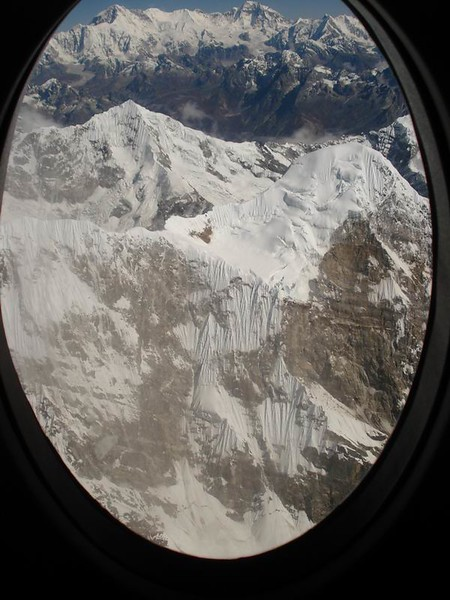 Small prop-plane on an Everest scenic flight