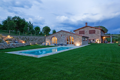 C135 - TUSCANY,  ITALY - Panoramic Estate Recently Restored with Private Land, Swimming Pool and Whirlpool