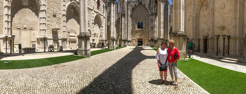 Ruins of the Carmo Church, Lisbon, Portugal.