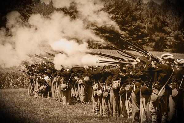 Waynesboro Civil War Reenactment: Black and White