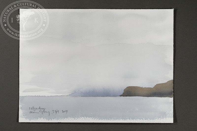 """Distant fog in Isfjorden 