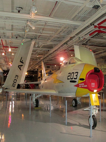 """""""North American FJ-3 Fury aboard the USS Intrepid"""" - Daily Photo - 06/18/13  Thanks for all of the positive comments on yesterday's shot!"""