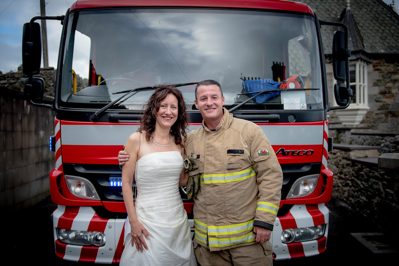 However, it was a good chance to be photographed with a firefighter!