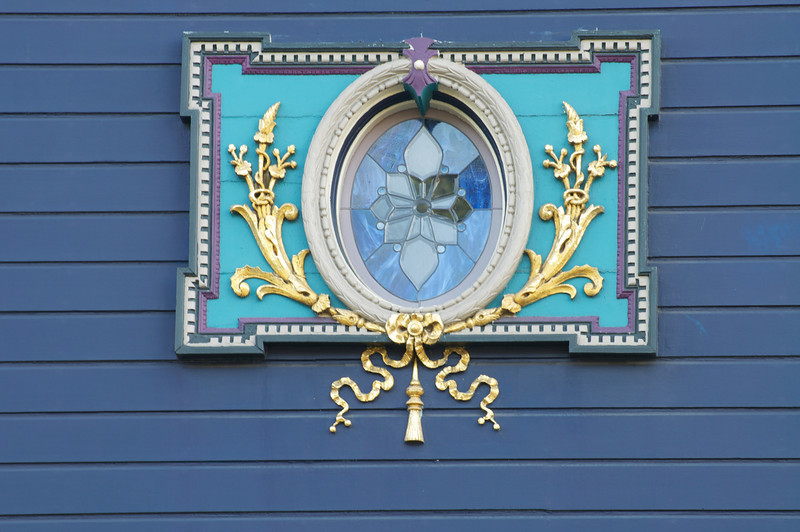 Decorated Stain Glass Window