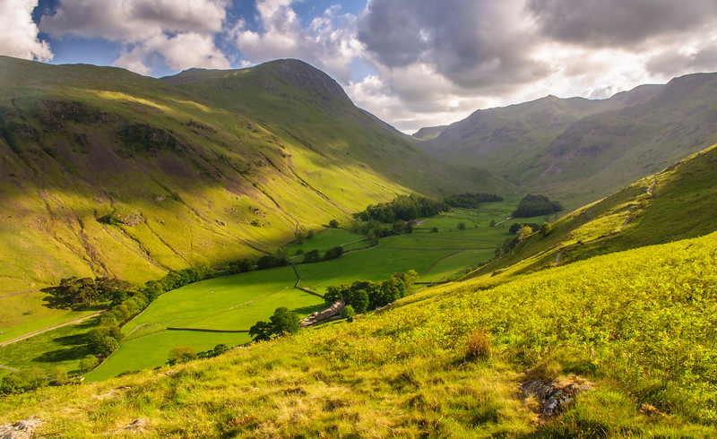 Grisedale Valley and Helvellyn