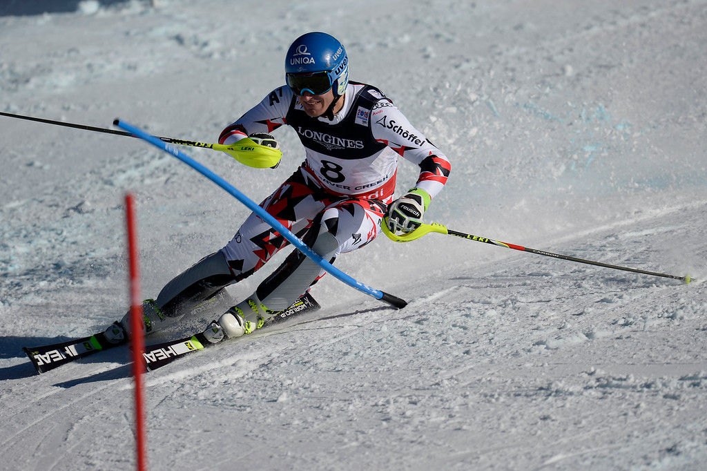 . BEAVER CREEK, CO - FEBRUARY 08: Matthias Mayer of Austria competes during the men\'s alpine combined final. FIS Alpine World Ski Championships 2015 on Sunday, February 8, 2015. (Photo by AAron Ontiveroz/The Denver Post)