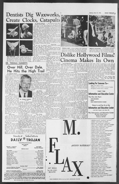 Daily Trojan, Vol. 54, No. 83, March 18, 1963