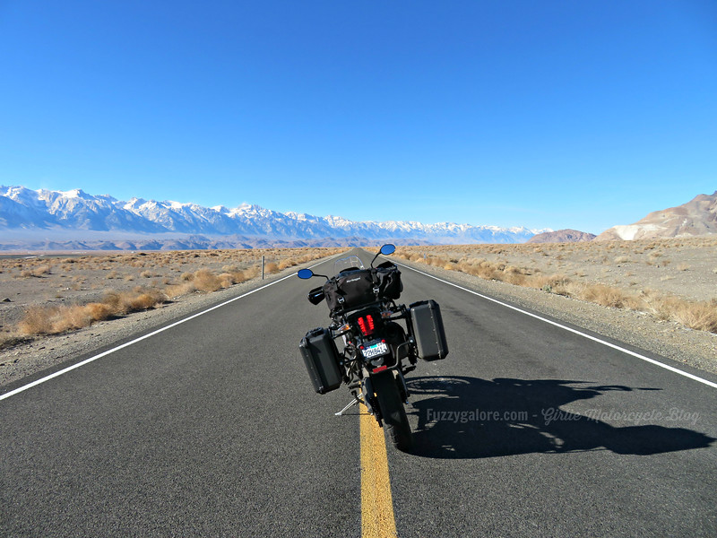 triumph tiger in death valley - Lessons Learned Traveling by Motorcycle