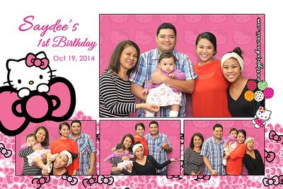 Saydee's 1st Birthday (Multi-Photo Collage)