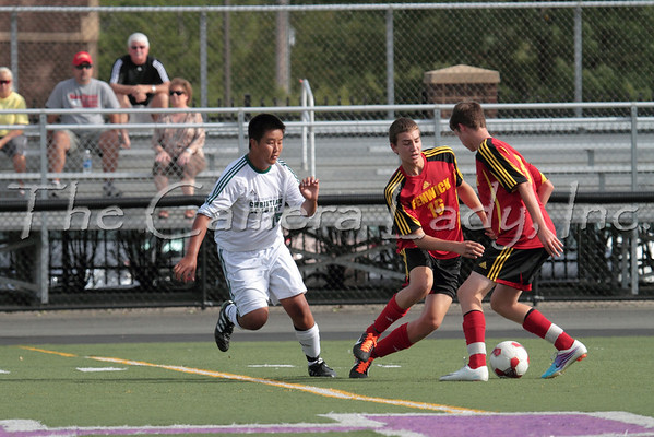 CHCA 2011 JV Boys Soccer vs Fenwick 08.30