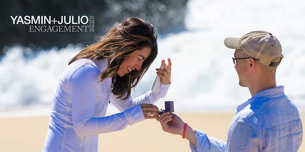 Yasmin and Julio (Proposal Photography) @ Panther Beach, Santa Cruz, California
