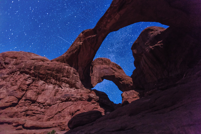 Double Arch, meteor