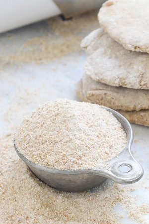 Freshly ground whole wheat flour