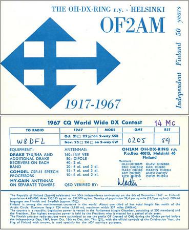 W8DFL QSL Cards 4/25/2011