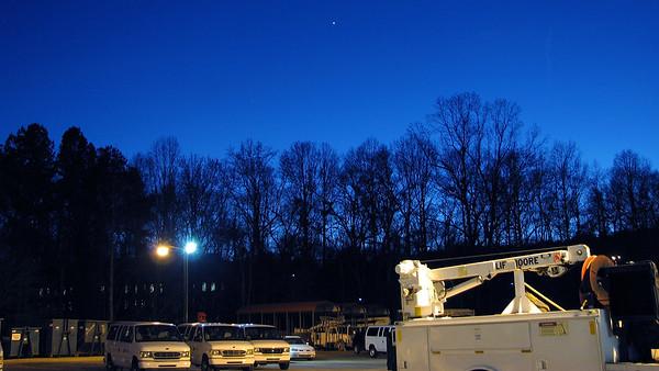 January 6:  A few night shots .  .  .