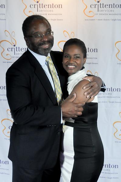Derek Farmer with his wife, Charlotte Farmer, Crittenton Board Chair, Principal, The Mitre Corporation.