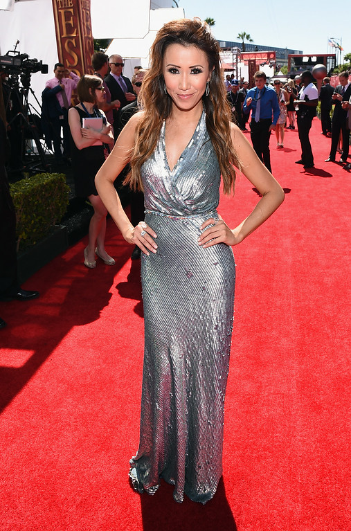 . LOS ANGELES, CA - JULY 16:  TV personality Michelle Marie attends The 2014 ESPYS at Nokia Theatre L.A. Live on July 16, 2014 in Los Angeles, California.  (Photo by Michael Buckner/Getty Images For ESPYS)