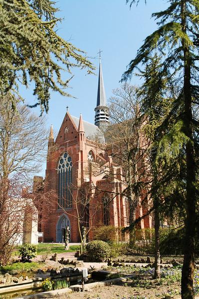 The Church of Saint Walburga (Sint Walburgakerk) in Veurne, Belgium.