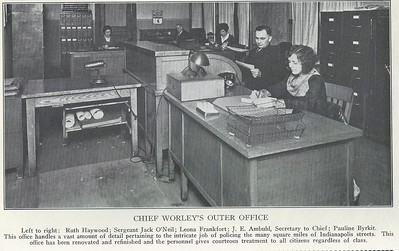 Chief Claude Worleys Outer Office 1929