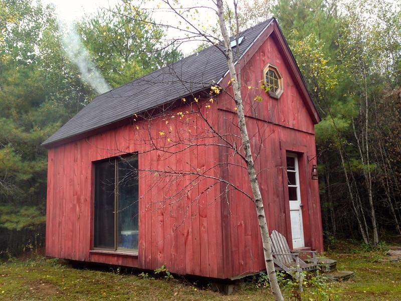 Maine cabin outside