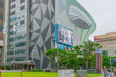 Cheonggyecheon and Seoul City Hall area
