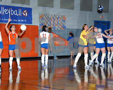 Marshall County Varsity Volleyball vs. Paducah Tilghman  -  September 2, 2008.  Lady Marshals Won The Match 2-0 (25-8 & 25-13).