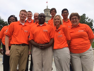 Project Inspire, Chattanooga, TN, 20th Anniversary of AmeriCorps is celebrated. Corporation for National and Community Service Photo.