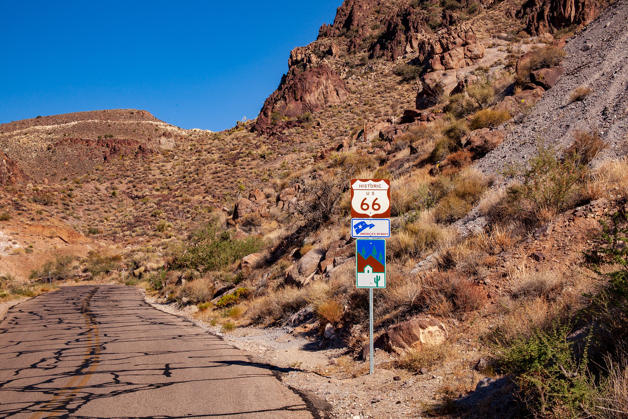 Route 66 Near Oatman, Arizona USA