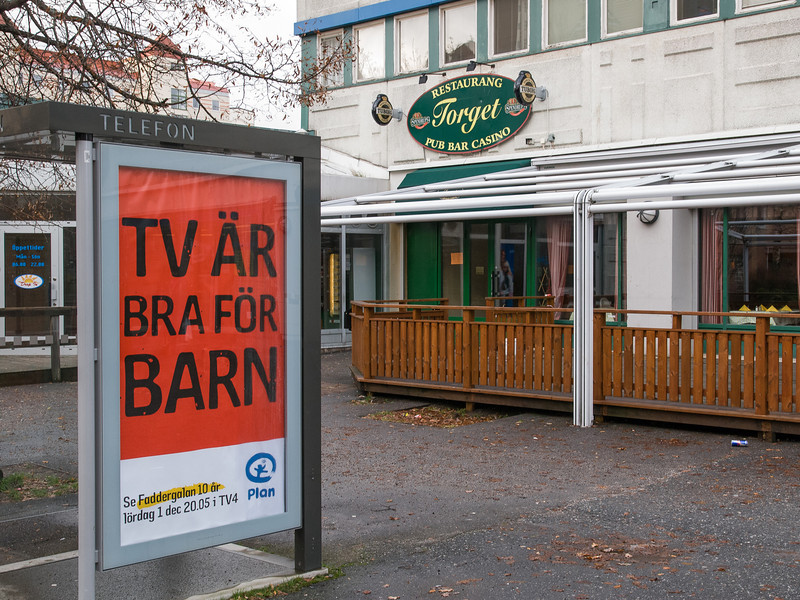 """TV is good for children"", Brandbergen, Haninge, Sweden, December 2007"