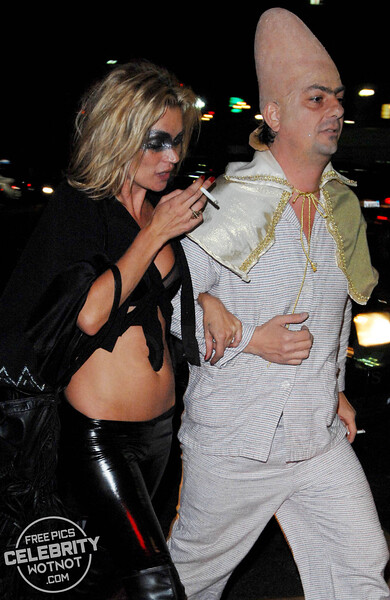EXCLUSIVE: Kate Moss Revealing Halloween Costume Plus Partner Jamie Hince As A Conehead! LA